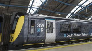 South Western Railway train at Waterloo station