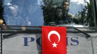 Türkiyə polisinin maşını