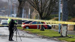 The crash scene in Leeds