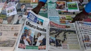 Wasu jaridun kasar Kenya