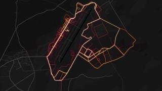 Strava'nın ısı haritası