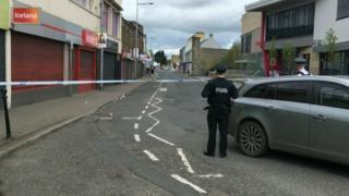 Police in Strabane on Saturday morning