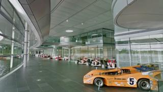 McLaren showroom at HQ