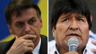 Jair Bolsonaro e Evo Morales