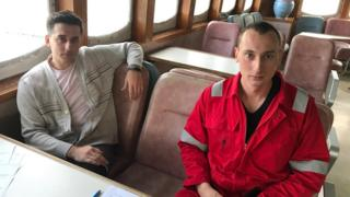 Sailors on board the MV Jireh