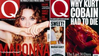 Q Magazine covers