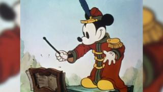 First Mickey Mouse cartoon in colour.
