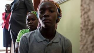 Des filles de Chibok qui ont été libérées en mai 2017 (illustration).