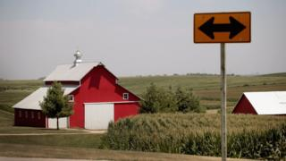 Corn grows on a farm on July 13, 2018 near Amana, Iowa.