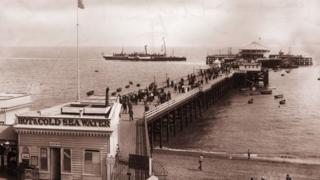 Clacton Pier in the 1880s