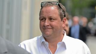 Owner of Sports Direct and Newcastle United, Mike Ashley