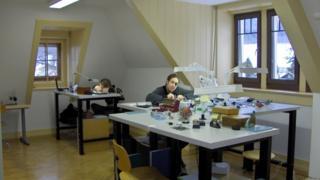 Workers in the Voutilainen workshop