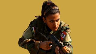 Combatiente kurda