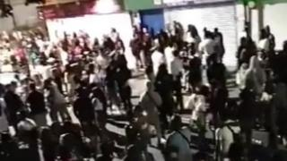 Illegal street party