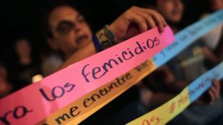 Manifestación contra el femicidio en Nicaragua.