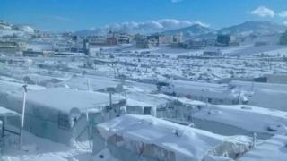 Syrian refugee camp hit by extreme snow storm