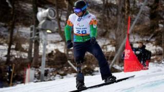 Andre Cintra durante competição na Olimpíada de Inverno em Sochi, na Rússia