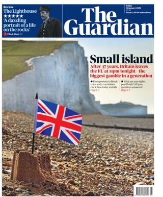 Friday's Guardian front page