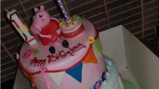 Peppa Pig cake bought for Akeelah Rose