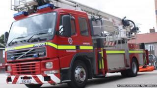 North Yorkshire fire engine