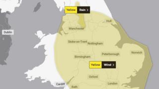 Met office warning for wind across east Wales