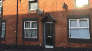 House in Kyle Street, east Belfast, where man's body was found