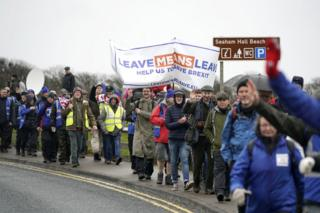 First leg of the March to Leave demonstration, embarking from Sunderland to Hartlepool