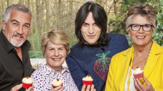 Paul Hollywood, Sandi Toksvig, Noel Fielding and Prue Leith