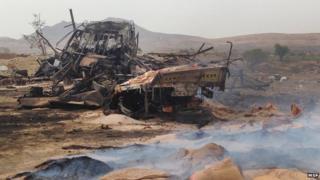 Yemen war scene