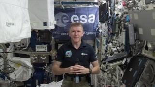 Tim Peak in space