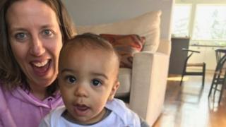 Lindsay Gottlieb e seu filho