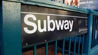 A New York Underground Entrance Sign