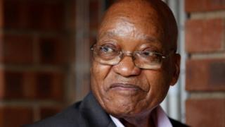 Prezida Jacob Zuma wa Afrika yepfo