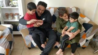 Faran Azad and his family