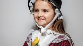 image of a girl in national welsh dress