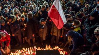Вшанування пам'яті мера Гданська