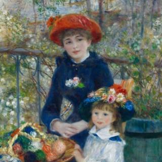 Farshaxanka 'Gabdhaha walaalaha ah' ee uu gacanta ku sawiray Pierre-Auguste Renoir 1881