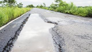 Road in poor repair
