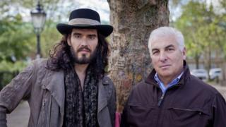 Russell Brand and Mitch Winehouse