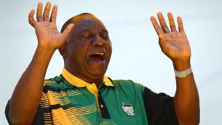 Cyril Ramaphosa in East London