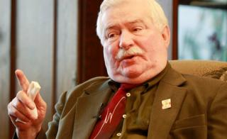 Poland's former president and legendary Solidarity freedom movement founder Lech Walesa - April 2016