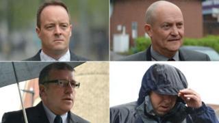 Clockwise from top left: Matthew Lucas, Lee Walls, Matthew Loosemore and Adrian Pogmore