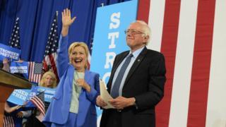 Hillary Clinton ve Bernie Sanders
