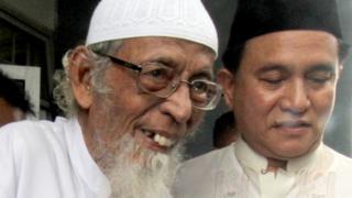 Abu Bakar Ba'asyir bersama Yusril Ihza Mahendra