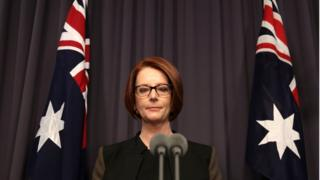 Julia Gillard in her final speech as PM in 2013 after losing a leadership contest