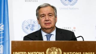 Birlemiş Milletler Genel Sekreteri Antonio Guterres