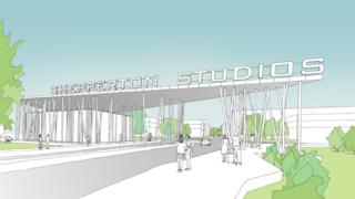 Artist's impression of the new Shepperton studios