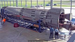 """""""蓝条纹号""""火箭曾是英国建造弹道导弹的雄心勃勃项目(Credit: John McCullagh/Wikimedia Commons)"""