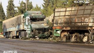 поврежденные грузовики