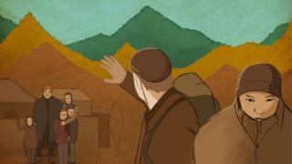 ఊహా చిత్రం: పిల్లలకు గుడ్బై చెబుతున్న తల్లిదండ్రులు